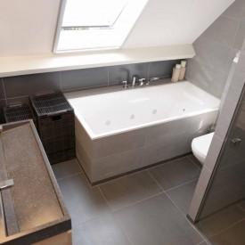 Volledig verbouwde badkamer